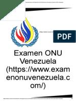 Sistema Interamericano de Protección de los Derechos Humanos _ Examen ONU Venezuela