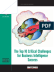 The Top 10 Critical Challenges for Business Intelligence Sucess