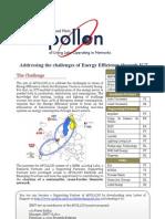 Apollon Energy Efficiency Experiment