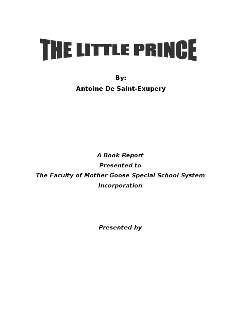 an analysis of the little prince