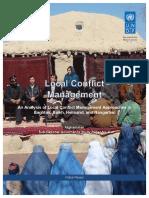 UNDP-AF-18022014-Local Conflict Management afghanistan refernce 1