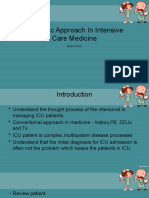 Systemic Approach In Intensive Care Medicine