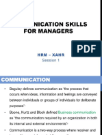 Communication Skills for Managers_HRM_260619