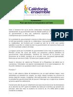 Communiqué CE COVID19 Transparence