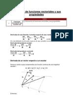 3.3 Derivación de funciones vectoriales y sus propiedades