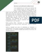 Creación de funciones y procedimientos
