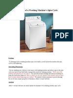 Dynamics of a Washing Machine