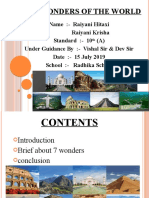 7 wonders of the world ppt