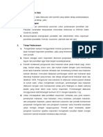 E. Pengumpulan Data dan Form Sisa makanan