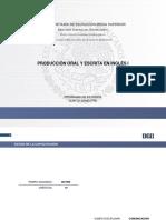 Producción Oral y Escrita en Inglés I