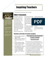 Inspiring Teachers Newsletter - Dec 2010
