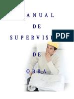 MANUAL DE SUPERVISION DE OBRA