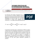 Aplicaciones prácticas de derivación e integración vectorial.