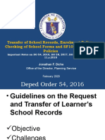 PS Policies on Enrolment , Transfer of Docs, Checking  of School Forms and SF10 (1)