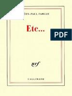 Etc__ - Leon-Paul Fargue