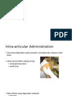 Intra-articular dan Intrapleural Analgesia