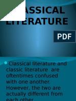 CLASSICAL-LITERATURE PPT