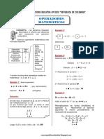 Problemas Selectos de Operadores Matematicos RM49 Ccesa007