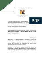 ORDENANZA REGULARIZACIÓN DEL TRANSITO DE MOTOCICLETAS (1)