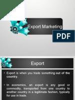 Export Mktg