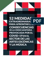 52 Medidas Covid Artes Escenicas Musica