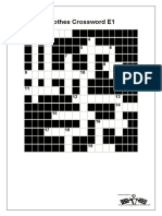 cLOTHES CROSSWORD E1-E2