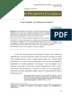 Freud e Aristóteles Die Verneinung e De Anima III 7