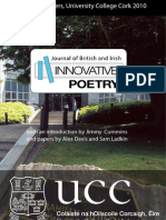 Journal of British and Irish Innovative Poetry (Cork Launch Booklet)
