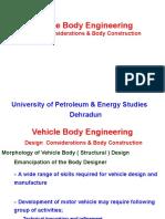 Design Considerations & Body Construction