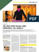 WOZ-Interview mit Klaus Schönberger zum Prozess der Digitalisierung der Gesellschaft (2010)