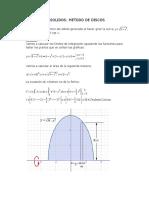 Trabajo calculo (Volumen de sólidosmediante seccion transversal)