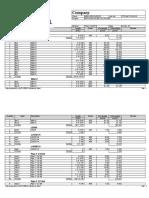 Material list summary