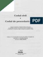 Codul civil. Codul de procedura civila Ed.7