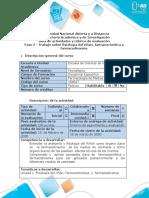 Guía de actividades y Rúbrica de evaluación - Fase 2 - Realizar trabajo Fisiología del riñón, farmacocinética y farmacodinamia (1).docx