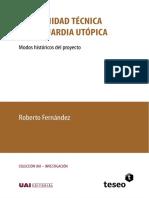 FERNANDEZ - Modernidad técnica y vanguardia utópica