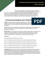 Clases portugués para hispanohablantes