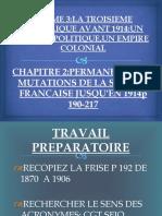 PERMANENCES ET MUTATIONS DE LA SOCIETE FRANCAISE (1870-1914)