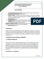 GUIA. DIAGNOSTICAR REQUERIMIENTOS DE BIENESTAR SOCIAL LABORAL FICHA 1903113 copia