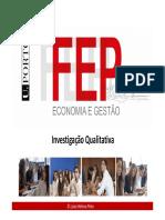 Tema 5A - Metodologias Qualitativas
