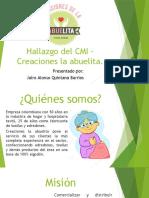 Evidencia 4 Diapositiva de video hallazgos CMI