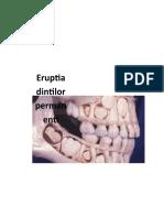 Eruptia dintilor permanenti