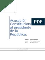 Acusación Constitucional al presidente de la República