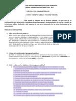 TALLER N°1 FZAS PUBLICAS Marco conceptual de las finanzas públicas