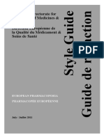 European Pharmacopoeia Style Guide July 2011