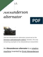 Alexanderson alternator - Wikipedia