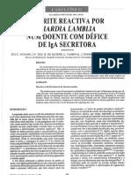 Artrite reactiva por Giardia Lambia num doente com défict de IgE secretora.pdf