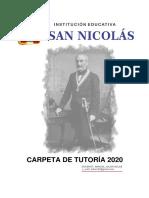 PLAN ANUAL DE TUTORÍA 2020 - 3 AÑO SEC