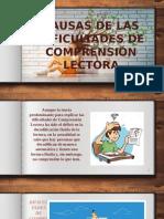 CAUSAS DE LAS DIFICULTADES DE COMPRENSIÓN LECTORA.pptx