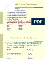 12.3 - Molecular Formula Determination