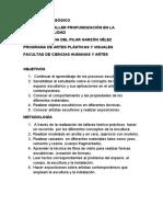 ACUERDO PEDAGÓGICO TALLER TRIDIMENSIONALIDAD 2013 B